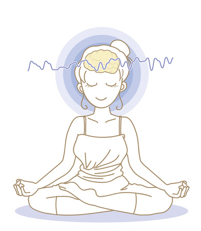 Meditation and brain waves-Woman