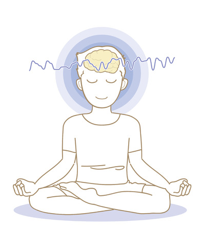 Meditation and brain waves-man