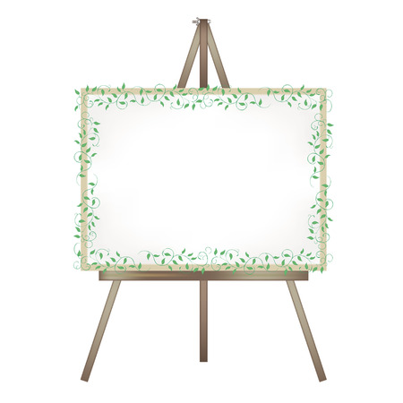 Canvas easel-Ivy decoration