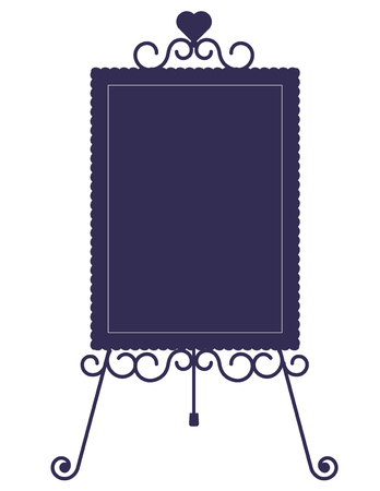 Iron easel and board-Fashionable decoration Illustration