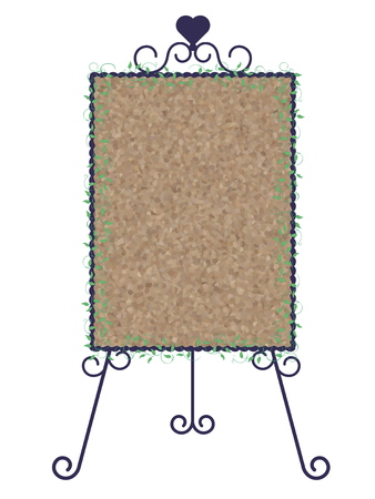 Stand signboard-iron & cork board-Vertical type Illustration