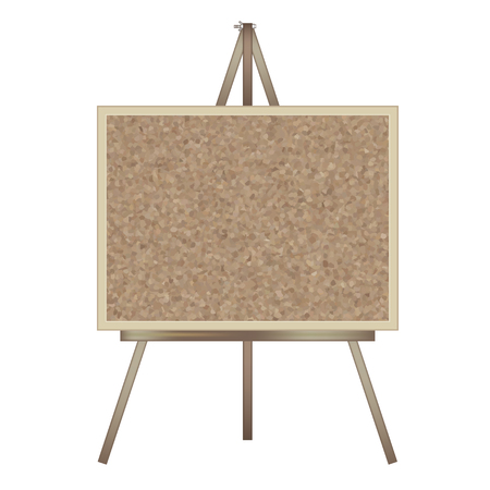 Stand signboard-easel & cork board-horizontal type Stock Vector - 120556299