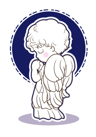 Prayer child-angel images-Side Vectores