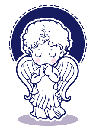 Prayer child-angel images-Front
