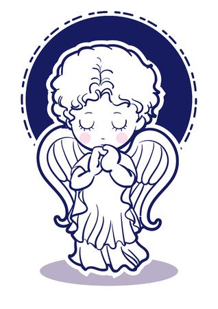 Prayer child-angel images-Front