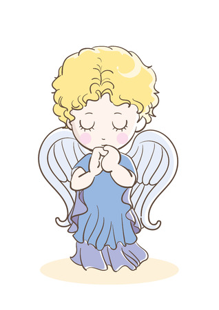 Prayer child-angel images-Front Stock Vector - 120553940