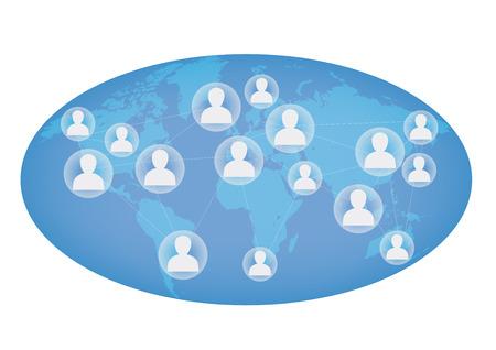 Transparent Network, Globe background