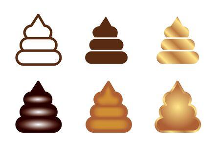 Pooping Icon Set-Sign & symbol Mark