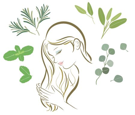 Organic Herbs Various-hair care women