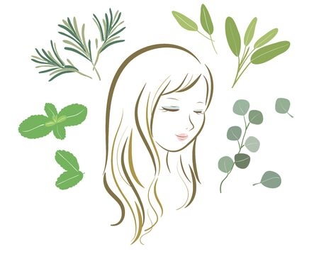 Organic Herbs Various-hair care women