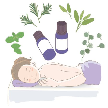 Aroma oil and bottle - Massage image