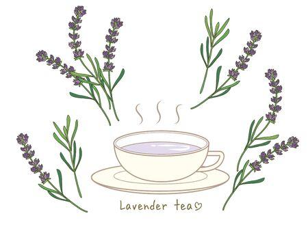 lavender tea set - Hot tea and cup