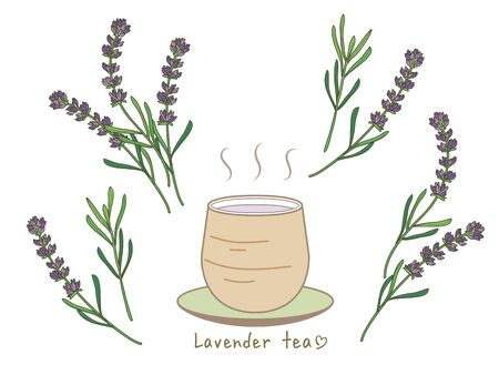 lavender tea set - Hot tea and Asian style cup
