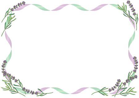 Lavender frame - feminine image