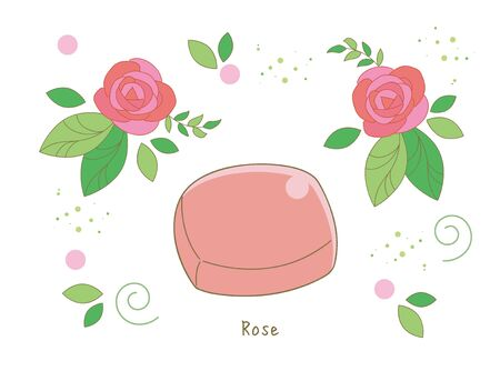 Organic rose soap - With rose Flower image