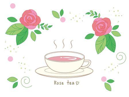 Rose tea set  Hot tea and Cup