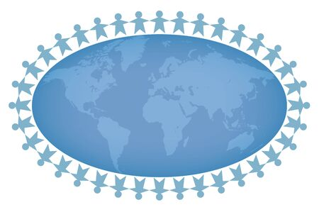 Social network of Peace image - People all over the world
