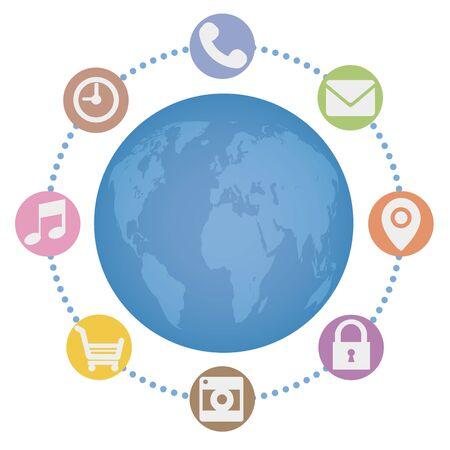 Global network, globe background image
