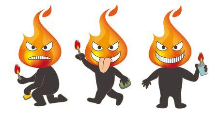 Arsonist - Character image set