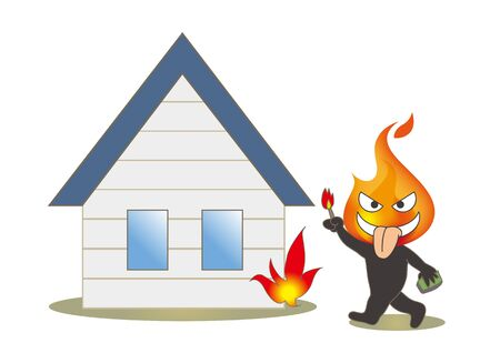 Beware of fire - Arsonist and housing