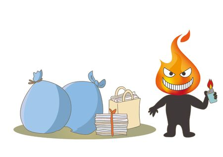 Beware of fire - Arsonist and garbage