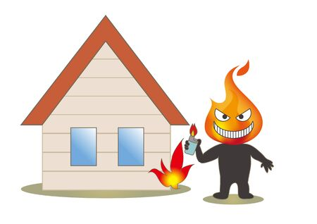 Beware of fire - Housing and Arsonist with a lighter?