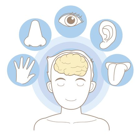 Five senses image for medical and educational