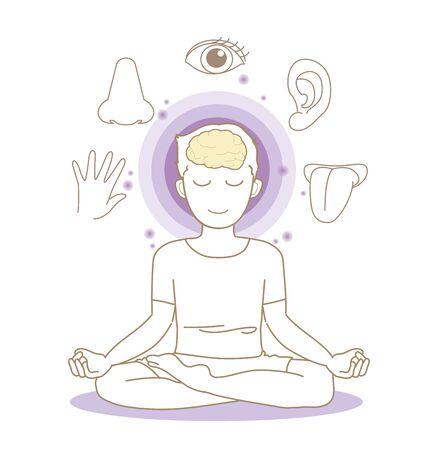 Five senses image - Yoga pose - Woman 写真素材 - 138337790