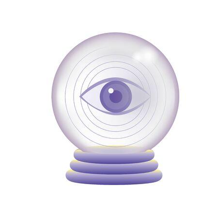 Crystal ball reflecting the eye