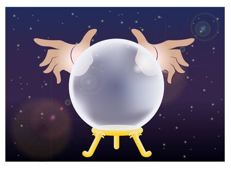 Crystal Ball and Fortune Teller's Hands