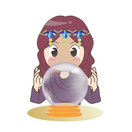 Crystal Ball and Fortune Teller - Gypsy Style