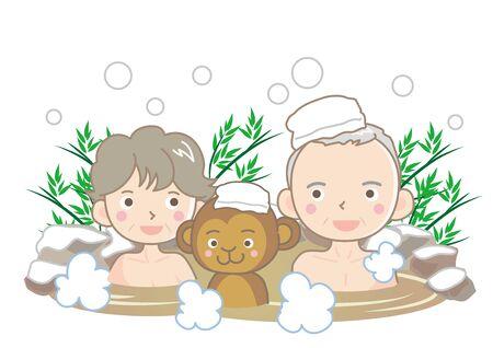 Japanese hot-spring 스톡 콘텐츠 - 140087862