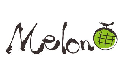 Doodle style Typography - Melon