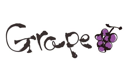 Doodle style Typography - Grape