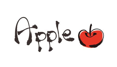 Doodle style Typography - Apple 일러스트