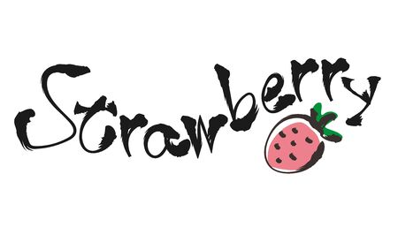 Doodle style Typography - Strawberry