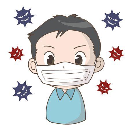 Prevent the spread of coronavirus infection -man 스톡 콘텐츠 - 142019999