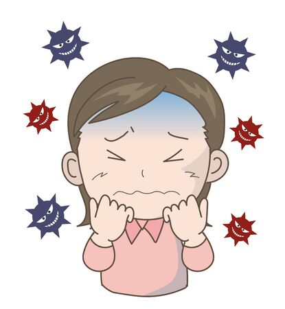 Woman Scared of Pandemic Threat -coronavirus- 스톡 콘텐츠 - 142252203