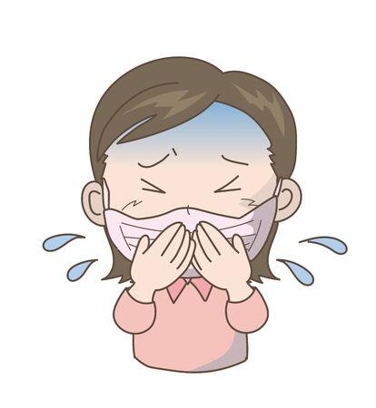 Prevent the Spread of New Coronavirus Infection - Girl 스톡 콘텐츠 - 142275574
