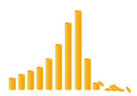 Coin graph - economic crash image - 스톡 콘텐츠 - 142608320