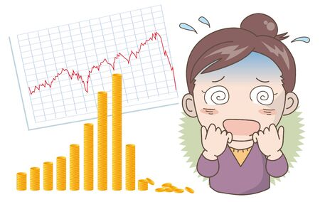 Economic crash image -Shocked woman