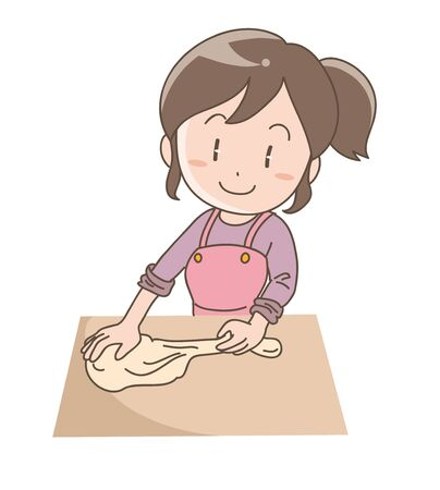 Womaning bread dough - Stress kneading