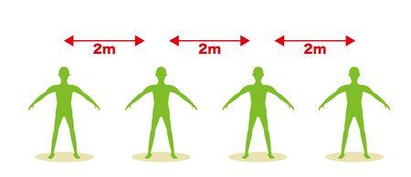 Social distancing - Image of distance between people