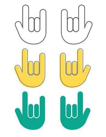 Hand gesture, i love you - icon set  イラスト・ベクター素材