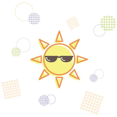 The Sun Wearing Sunglasses Image (pop)