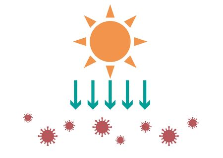 Ultraviolet rays and coronavirus image