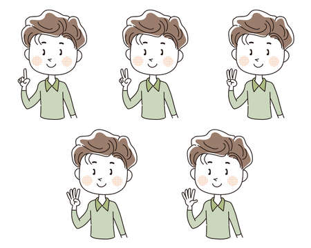 International sign language, Number set (Man)