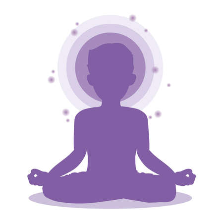 Man who meditate - Yoga pose image
