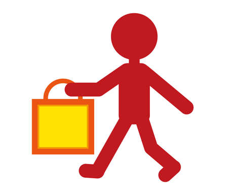 Takeaway silhouette image - paper bag