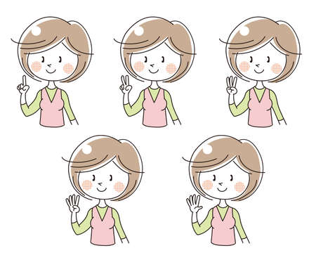 International sign language, Number set (Woman)